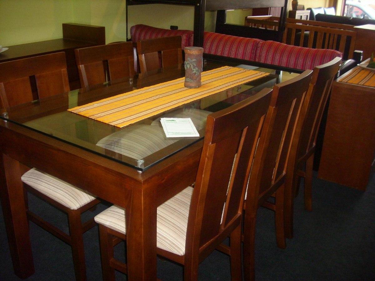 Mesa de madera con patas torneadas mesa realizada en for Mesas de comedor de vidrio y madera