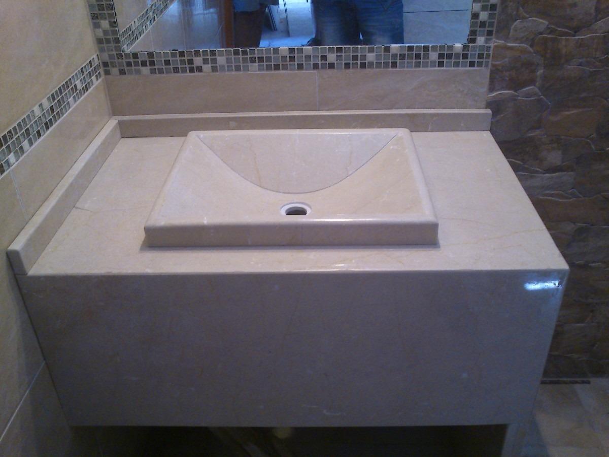 Tipos De Bachas Para Baño:Mesada De Marmol Para Baño Con Bacha Artesanal – $ 4500,00 en