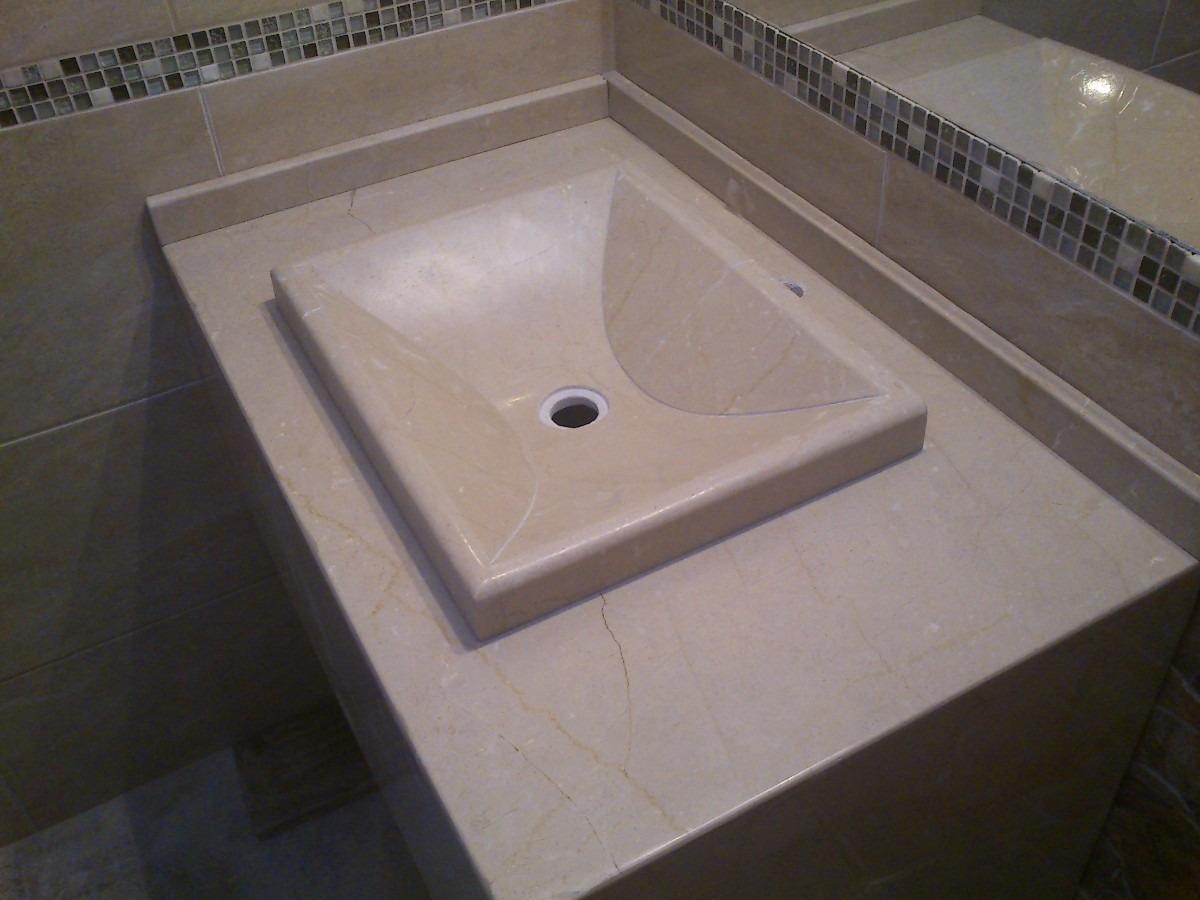Bachas Para Baño Con Griferia:mesada-de-marmol-para-bano-con-bacha-artesanal-12082-MLU20054427713