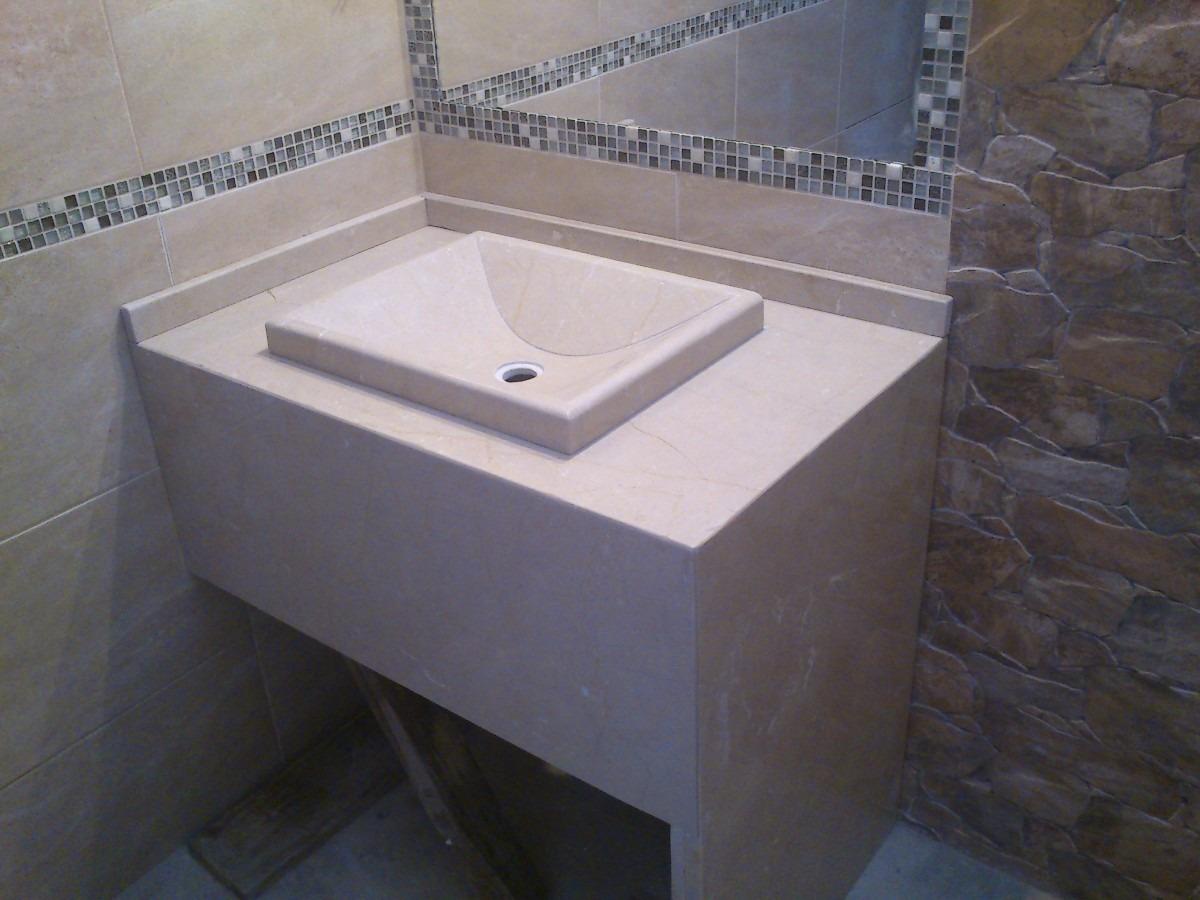 Mesada De Marmol Para Baño Con Bacha Artesanal - $ 4.500 ...
