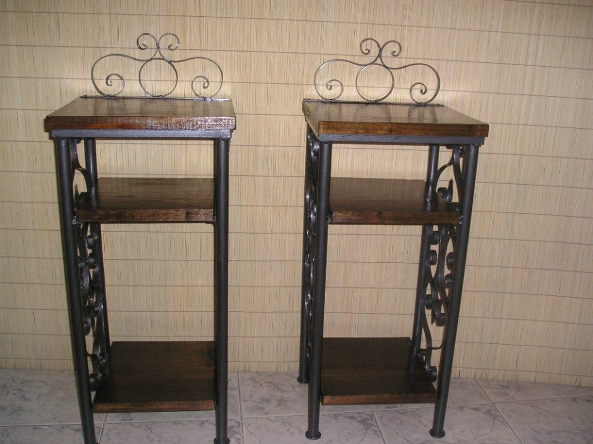 Mi casa decoracion mesas madera y hierro for Mesa hierro y madera