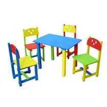 1 Mesa Y 4 Sillas Para Niño En Colores