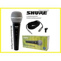 Microfono Completo Para Karaoke Shure Original Completo!
