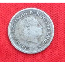 Jm * Antillas Holandesas Plata 1/10 Gulden 1956