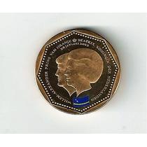 Fk Curaçao Antillas Holandesas 5 Gulden 2013 Colorida Unc