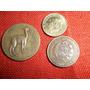 Lote De 3 Monedas De Perú,medio Sol ,10 Cent. Y 5 Cent.ver!