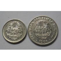 República Socialista De Rumania Dos Monedas 5 Y 15 Bani 1966
