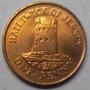 Moneda De Jersey Año 1987 Valor 1 Penny Sin Circular Leer