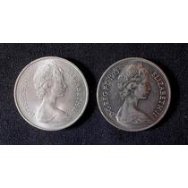 Gran Bretaña - 10 New Pence 1968 Y 1973