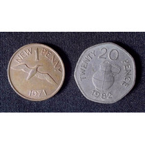 Guernsey - 1 Penny 1971 Y 20 Pence 1982