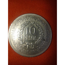 Moneda De $10 Uruguaya De Plata Año 1961