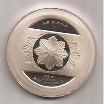 Chs* Uruguay Moneda Conmemorativa N$5.000 Año 1987 De Plata