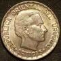 Ch Uruguay Moneda De Plata 50 Centésimos Año 1943