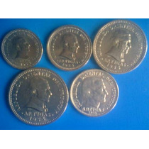 Ch Monedas 1, 2, 5 Y10 Cts 1953 20 Cts 1954 Plata 10 1959 .