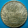 1943 Uruguay 50 Cent De Plata Impecable Estado Vea Las Fotos