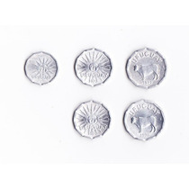 Uruguay Sin Circular Alum 1977- 1978 5 Monedas, 1, 2 Y 5 Cts