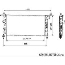 Radiador Chevrolet Corsa 1.0 1.4 /94 El M