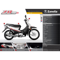 Motocicleta Zb110cc Con Arranque Electrico Zanella 0km 2015