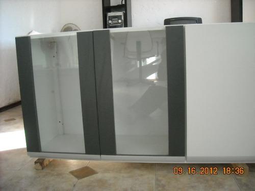 Mueble Aereo Con Puertas De Vidrio En 2 Colores  $ 5300,00 en