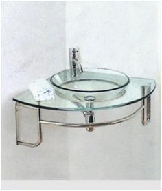 Mueble De Baño Con Bacha Esquinero Vidrio - U$S 168,00 en ...