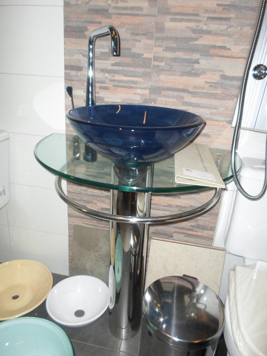 Bachas Para Baño Con Pie:Mueble De Baño Con Bacha Transparente Vidrio Pileta – U$S 180,00 en