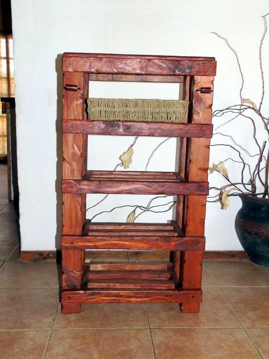 Mueble De Cocina Madera Tratada Con Aplique De Hierro  $ 1990,00 en