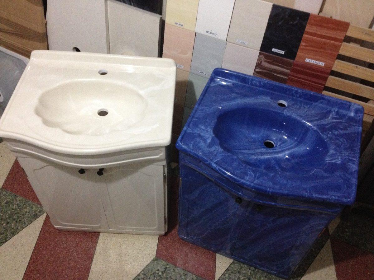 Mueble Baño Amarillo:Mueble De Marmolina Para Baño Varios Colores Con Lavatorio – $ 8300