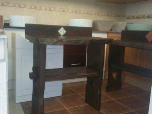 Tipos De Bachas Para Baño:Mueble Rustico Para Bacha De Baño – $ 4500,00 en MercadoLibre