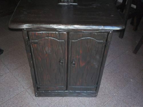 Mueble rustico para bacha de ba o con puertas - Puertas para muebles de bano ...