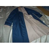 Gabardina Reversible Azul Y Beige