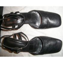 Zapatos De Cuero Negro Daniel Cassin De Dama Numero 38