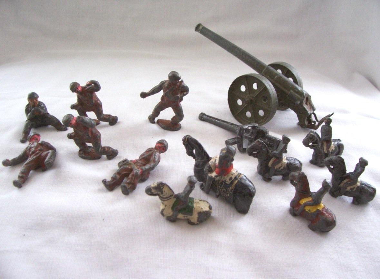 muy antiguos soldaditos de plomo y más x 14 - juguete niño