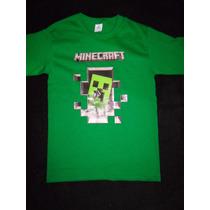 Remeras Minecraft 100% Algodon Diseños Exclusivos!!