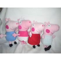 George Y Peppa Pig La Cerdita De Peluche Precioso 27 Cms