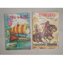 2 Revistas Antiguas Historietas Aventuras Y Ben-hur 1958-66