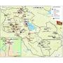 Armenia - Mapa De Lugares Y Rutas Turísticas - 45x30 Cm.