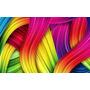 Arte Abstracto - Ondas De Colores - Lámina 45x30 Cm.
