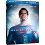 El Hombre De Acero - Superman En Blu-ray 3d / Blu-ray / Dvd