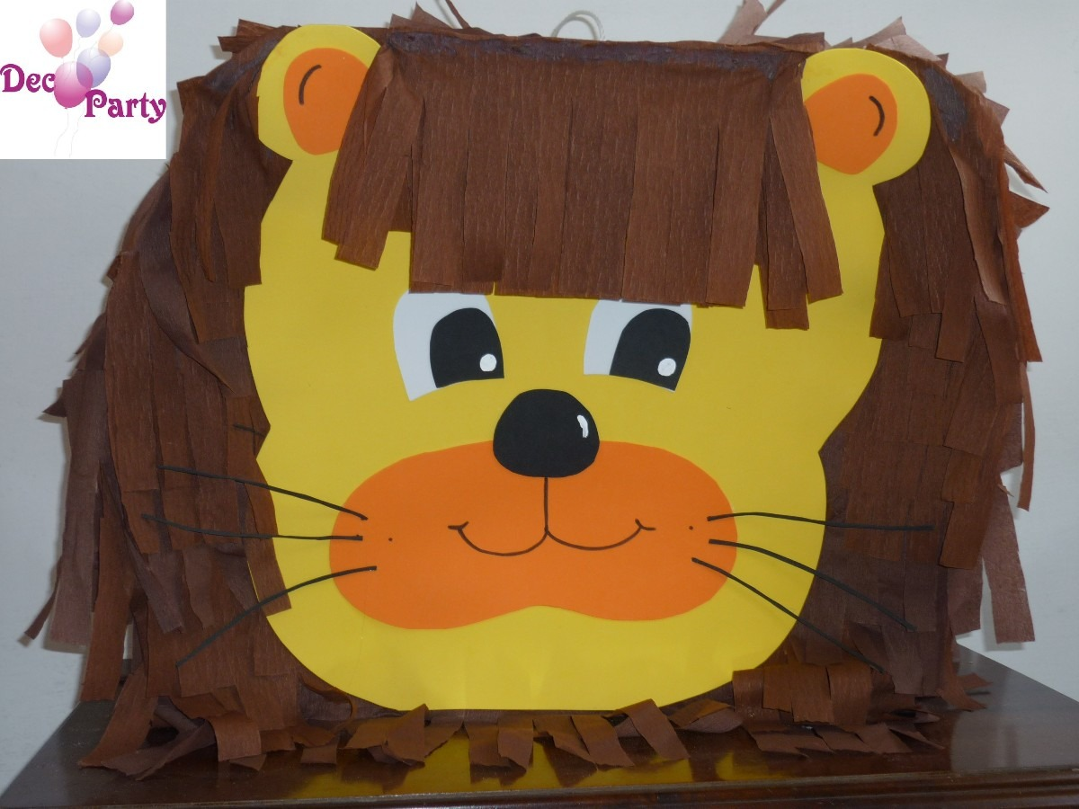 Piñata León. Animales De La Selva. - $ 550,00 en MercadoLibre