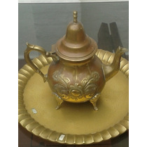 Cafetera Bronce Antiguo