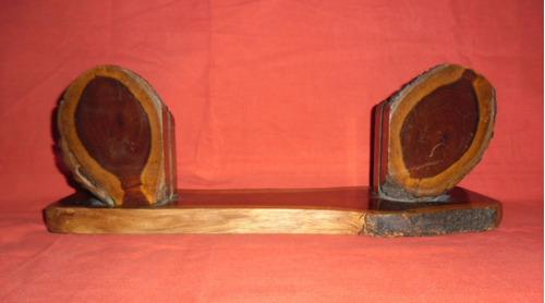Porta Retrato Madera Tronco Sellado 35 X 10 Antigüo