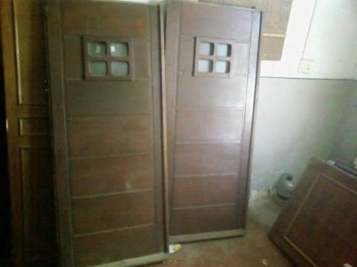 Pin porton puertas garage portones madera genuardis portal - Puertas para garage ...