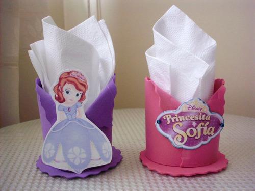 Servilleteros de la princesita sofia - Imagui