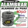 Alambre De Púas (rollo 100mts.)