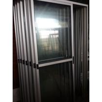 Puerta Ventana De Aluminio Serie 20 150x200 Con Reja 12 O 16