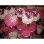 Topiarios O Centro De Mesa Vaso Con Flores En Gom Eva