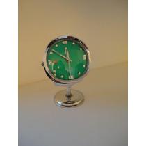Antiguo Reloj Vintage Color Rojo - Verde Tal Cual Fotos