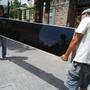 Puertas Placard Y Marco, Vidrio Negro Y Aluminio, Nuevo