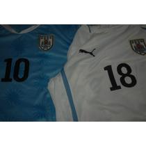 Estampados Numero Nombre Camisetas Uruguay Mundial 2010