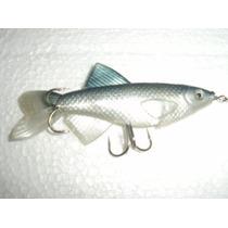 Pescadito De Goma C/ Cuchara Giratoria 15cm. Tararira